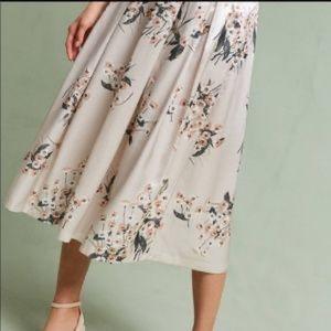 Anthropologie Champagne Garden Skirt by Della Bee